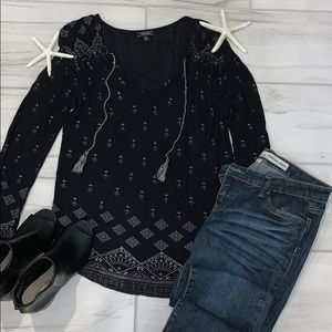Lucky brand black long sleeve